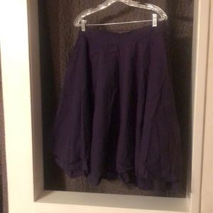Dark Purple Skirt Plus Size